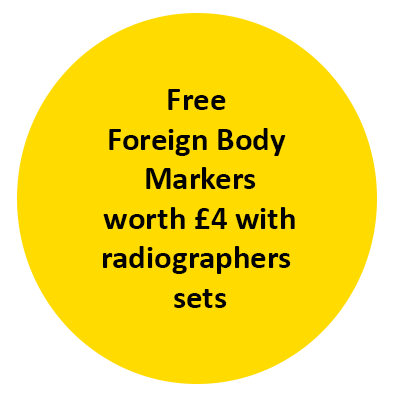 Free  Foreign Body  Markers worth £4 with radiographers  sets